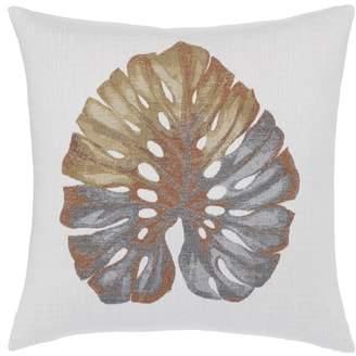 Metallic Leaf Indoor/Outdoor Accent Pillow