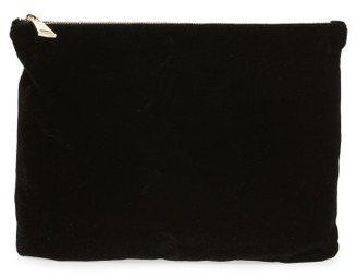 Bp. Velvet Clutch - Black $35 thestylecure.com