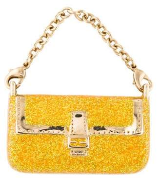 Fendi Glitter Enamel Purse Keychain Yellow Glitter Enamel Purse Keychain