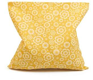 Grünspecht 112-V1 Cherry Stone Pillow, 16 x 16 cm, Yellow Floral Print