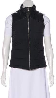 Monrow Faux-Leather Accented Vest