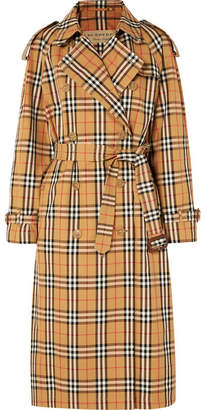 Burberry The Eastheath Checked Cotton-gabardine Trench Coat - Beige