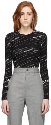 Balenciaga Black Logo Long Sleeve T-Shirt