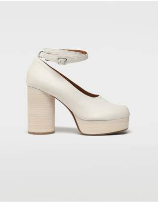 Maison Margiela Tabi Double Strap Leather Sandals
