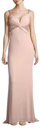 GLAMOUR BY TERANI Twisted Drape Dress