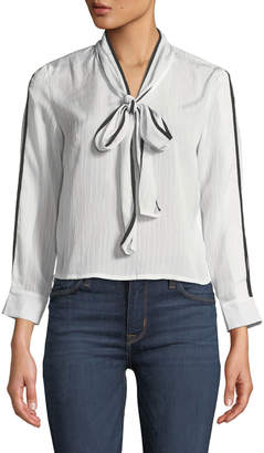 Avantlook Bow & Ridge Tie-Neck Blouse