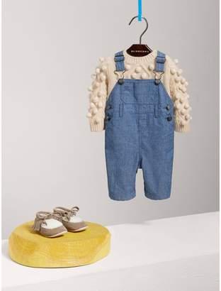 Burberry Bobble Cable Knit Cashmere Lurex Blend Sweater