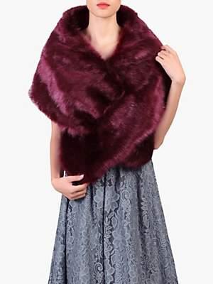 Jolie Moi Faux Fur Shawl Wrap