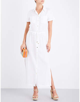 Heidi Klein Maine woven maxi shirt dress $260 thestylecure.com
