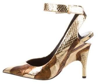 Tom Ford Snakeskin Ankle-Strap Pumps