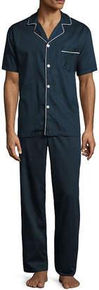STAFFORD Stafford Sateen Short Sleeve/ Long Leg Pajama Set -Men's