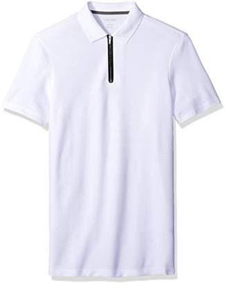 Calvin Klein Men's Short Sleeve Two Tone Pique Polo Shirt
