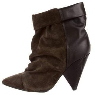 Isabel Marant Suede Pointed-Toe Boots