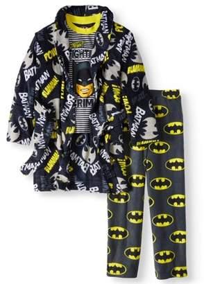 Batman Boys 3 Piece Pajama Robe Set
