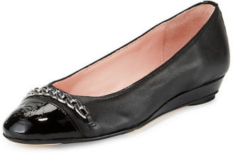 Taryn Rose Paola Snake-Embossed Leather Ballerina $122 thestylecure.com