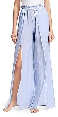 Jonathan Simkhai Women's Striped Fisherman Pajama Pants