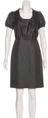 Magaschoni Short Sleeve Knee-Length Dress