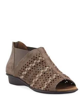 Sesto Meucci Emilia Woven Comfort Suede Slip-On Sandals