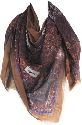 Saint Laurent Vintage Brown Wool Scarves