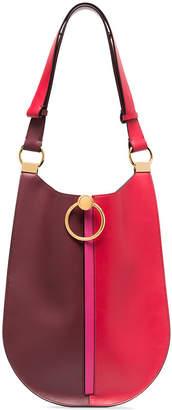 Marni red and burgundy bi-colour leather shoulder bag