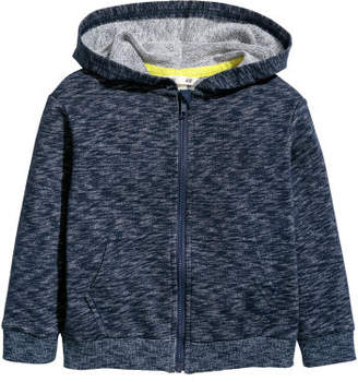H&M Hooded Sweatshirt Jacket - Blue