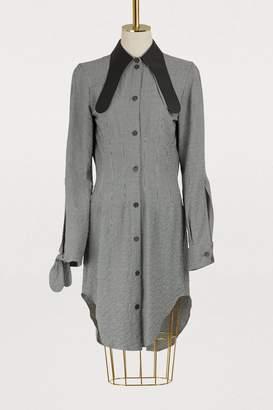 Loewe Leather collar long shirt