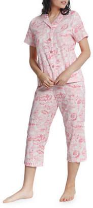 Jasmine Rose Two-Piece Cotton Capri Pyjama Set