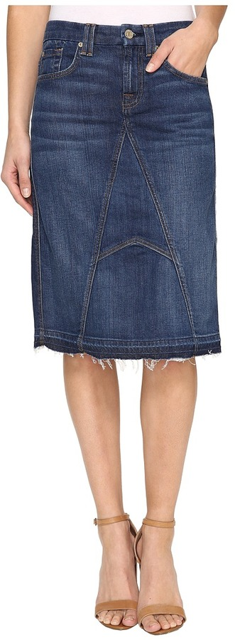 7 For All Mankind7 For All Mankind Mini Skirt w/ Released Hem in Eden Port