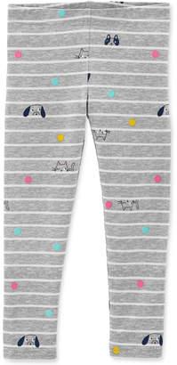 Carter's Baby Girls Striped Animal-Print Leggings