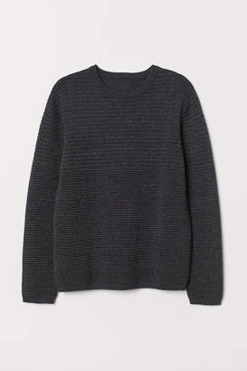 H&M Textured-knit jumper