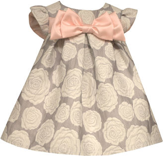 Bonnie Jean short sleeve rose brocade with satin bow - Baby Girls $50 thestylecure.com