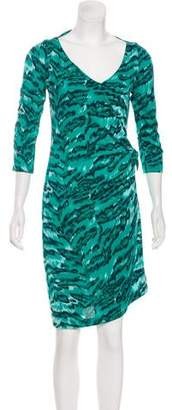 Diane von Furstenberg Long Sleeve Printed Midi Dress