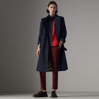 Burberry Painted Vintage Check-lined Gabardine Trench Coat
