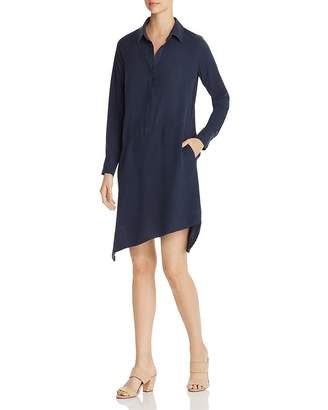 Go Silk Go by Asymmetric-Hem Shirt Dress