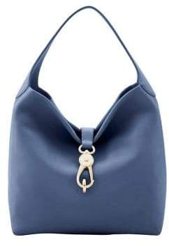 Dooney & Bourke Logolock Leather Hobo Bag