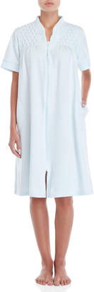 Miss Elaine Embroidered Zip Nightgown