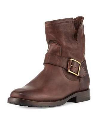 Frye Natalie Short Engineer Boot, Dark Brown $348 thestylecure.com