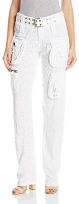 Pete & Greta by Johnny was Women's Belted Embroidered Cargo Pant