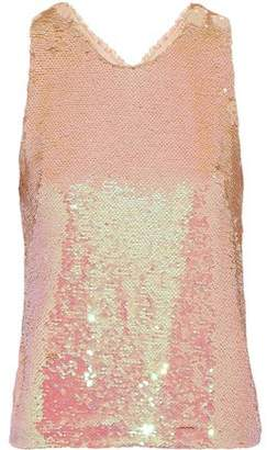 Isolda Cristal Sequined Tulle Tank