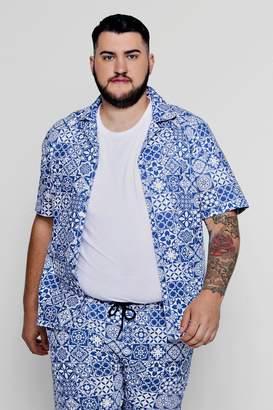 boohoo Big And Tall Short Sleeve Shirt