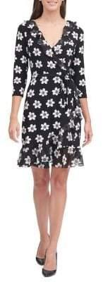 Tommy Hilfiger Printed Jersey Wrap Dress