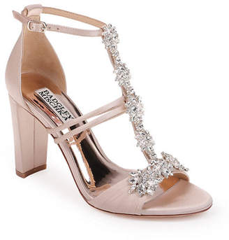 Badgley Mischka Laney Embellished Jacquard Sandals