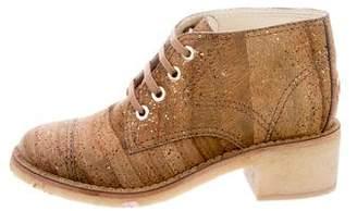 Chanel CC Cork Booties