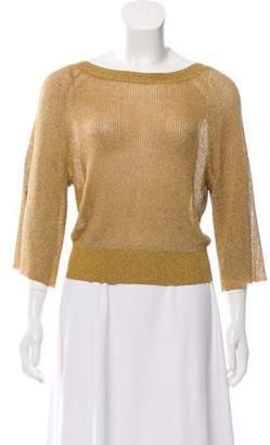 Alice + Olivia Metallic Rib Knit Sweater