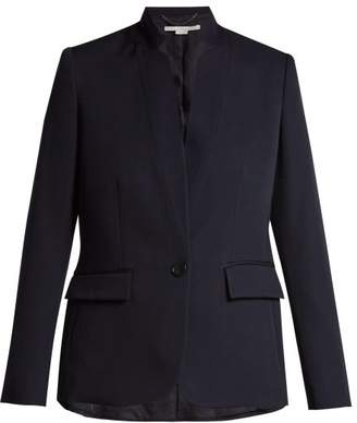 Stella McCartney Fleur Single Breasted Wool Blazer - Womens - Navy