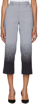 Erdem Blue and White Preston Trousers