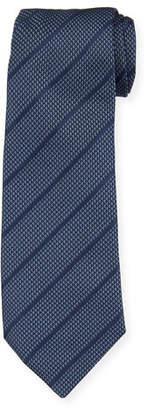 Giorgio Armani Diagonal Stripes Mulberry Silk Tie