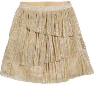 Mayoral Sequined Mini Skirt, Champagne, Size 8-14