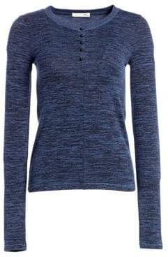 Rag & Bone Bowery Stretch Button-Front Sweater