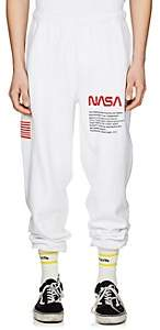 Heron Preston Men's Embroidered Cotton Fleece Jogger Pants - White